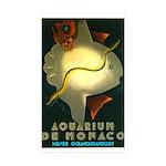 Aquarium De Monaco Fish Sticker (Rectangle 50 pk)