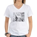 Humorous Political Science Women's V-Neck T-Shirt