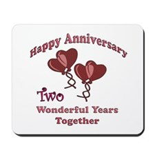 Cute Second anniversary Mousepad