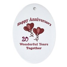 Cool Twentieth anniversary Oval Ornament