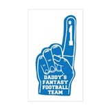 Daddy's Fantasy Football Foam Finger Decal