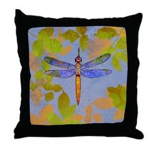Shining Dragonfly Throw Pillow