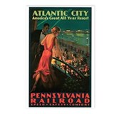 Vintage 1935 Atlantic City NJ Postcards (Package o