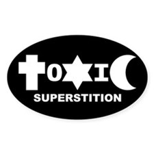 ToXiC Superstition Oval Decal