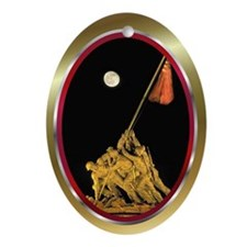Funny Wwii marines Ornament (Oval)