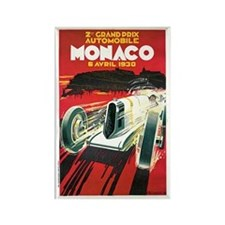 Vintage 1930 Monaco Auto Race Rectangle Magnet