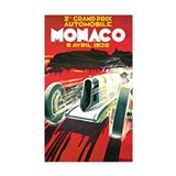 Vintage 1930 Monaco Auto Race Decal