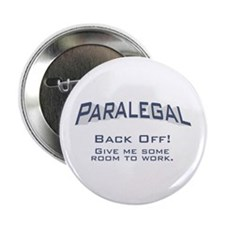 "Paralegal / Back Off 2.25"" Button"