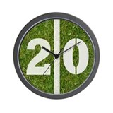 20 Yard Football Wall Clock