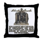 Lincoln on Rich and Poor Throw Pillow