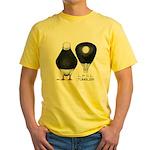 Tumbler Baldhead Pigeon Yellow T-Shirt