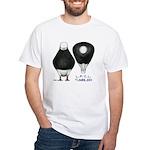 Tumbler Baldhead Pigeon White T-Shirt