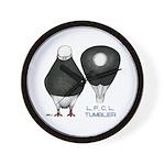 Tumbler Baldhead Pigeon Wall Clock