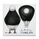 Tumbler Baldhead Pigeon Tile Coaster