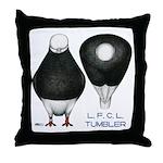 Tumbler Baldhead Pigeon Throw Pillow