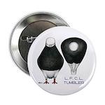 """Tumbler Baldhead Pigeon 2.25"""" Button (100 pac"""