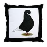 Tumbler Beard Pigeon Throw Pillow