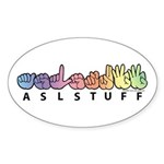 ASLstuff Logo Sticker (Oval)