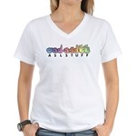 ASLstuff Logo Women's V-Neck T-Shirt