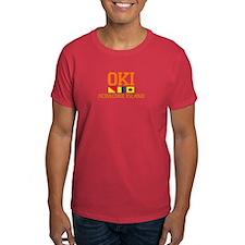 Ocracoke Island - Nautical Flags Design T-Shirt