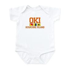 Ocracoke Island - Nautical Flags Design Infant Bod