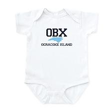 Ocracoke Island - Map Design Infant Bodysuit