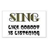 LOVE TO SING Decal