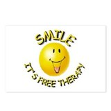 SMILE IT'S FREE THERAPY Postcards (Package of 8)