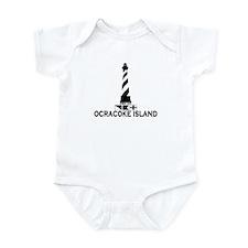 Ocracoke Island - Lighthouse Design Infant Bodysui