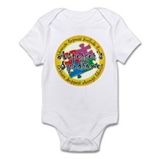 Asperger's Syndrome Puzzle Pi Infant Bodysuit