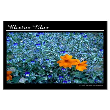 Electric Blue Large Poster