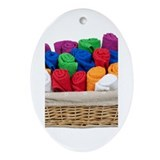 Rolled Towels Basket Ornament (Oval)