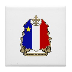 Proud Acadian Tile Coaster