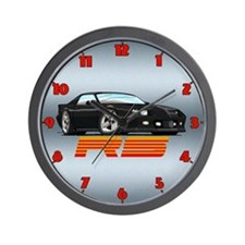 Black RS Camaro Wall Clock