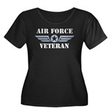 Air Force Veteran Women's Plus Size Scoop Neck Dar