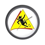 SLIP'N DANGER Mugs Wall Clock