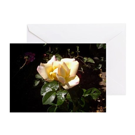 Yellow Rosebud Greeting Cards (Pk of 10)
