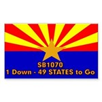 SB1070 Sticker (Rectangle)