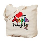 I Love My Aspie Daughter Tote Bag