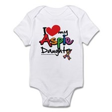 I Love My Aspie Daughter Infant Bodysuit
