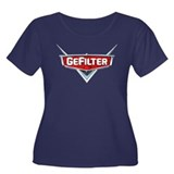 GeFilter Women's Plus Size Scoop Neck Dark T-Shirt