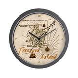 Treasure Island Wall Clock