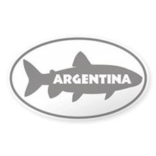 Argentina Trout Window Sticker Sticker Oval 50 pk