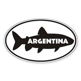 Argentina Trout Window Sticker Sticker Oval 10 pk