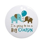 Big Cousin to be - Elephant Ornament (Round)