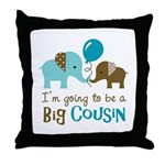 Big Cousin to be - Elephant Throw Pillow