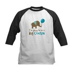 Big Cousin to be - Elephant Kids Baseball Jersey