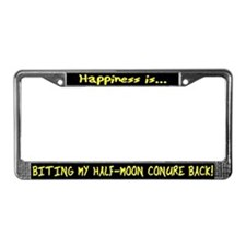 HI Biting Half Moon Conure License Plate Frame