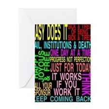 12 STEP SLOGANS Greeting Card