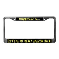 HI Biting Mealy Amazon License Plate Frame